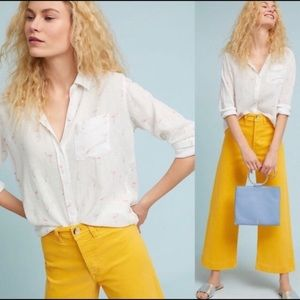 Rails Charli Flamingos Linen Button Down Shirt Med